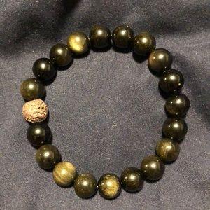Jewelry - Handmade Obsidian/ Lava Rock bracelet